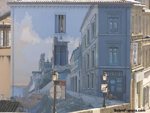 Angouleme, mural de comic
