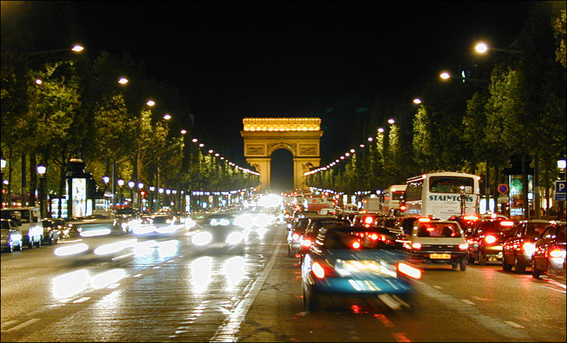 campos eliseos, arco de triunfo, paris