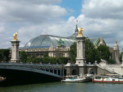 Campos elíseos, puente alejandro III, grand palais, París