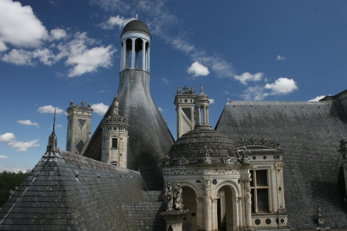 Castillo Chambord, tejados