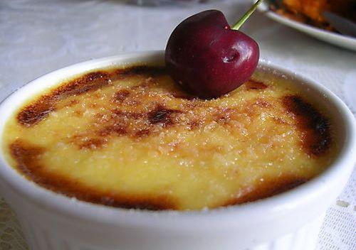 Creme brulee, gastronomía francesa, postres