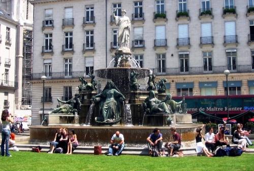 Place Royale, Plaza real, Nantes
