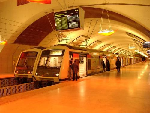 El RER, transporte de Paris