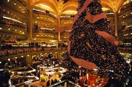 Galerias Lafayette en Navidad