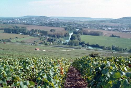 Epernay, en la región de Champagne