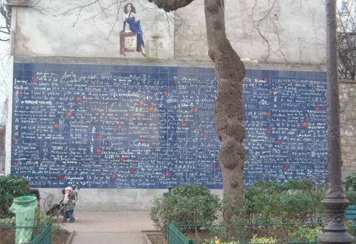 El Muro de los Te amo en Paris