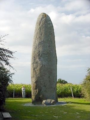 El Menhir du Champ Dolent, Dol de Bretagne.