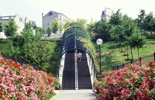 Parc de Belleville, Paris.