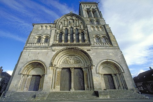 La abadia de Vezelay, Borgoña.