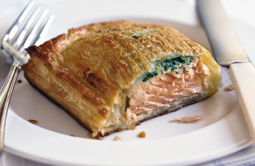 Salmon en croute, recetas de Francia