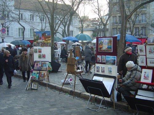 La Plaza de Tertre, en Paris
