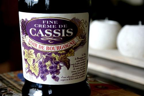 Creme de Cassis, famoso licor frances