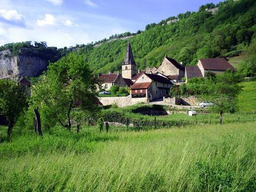 Recorridos en Baume-les-Messieurs, en el Jura