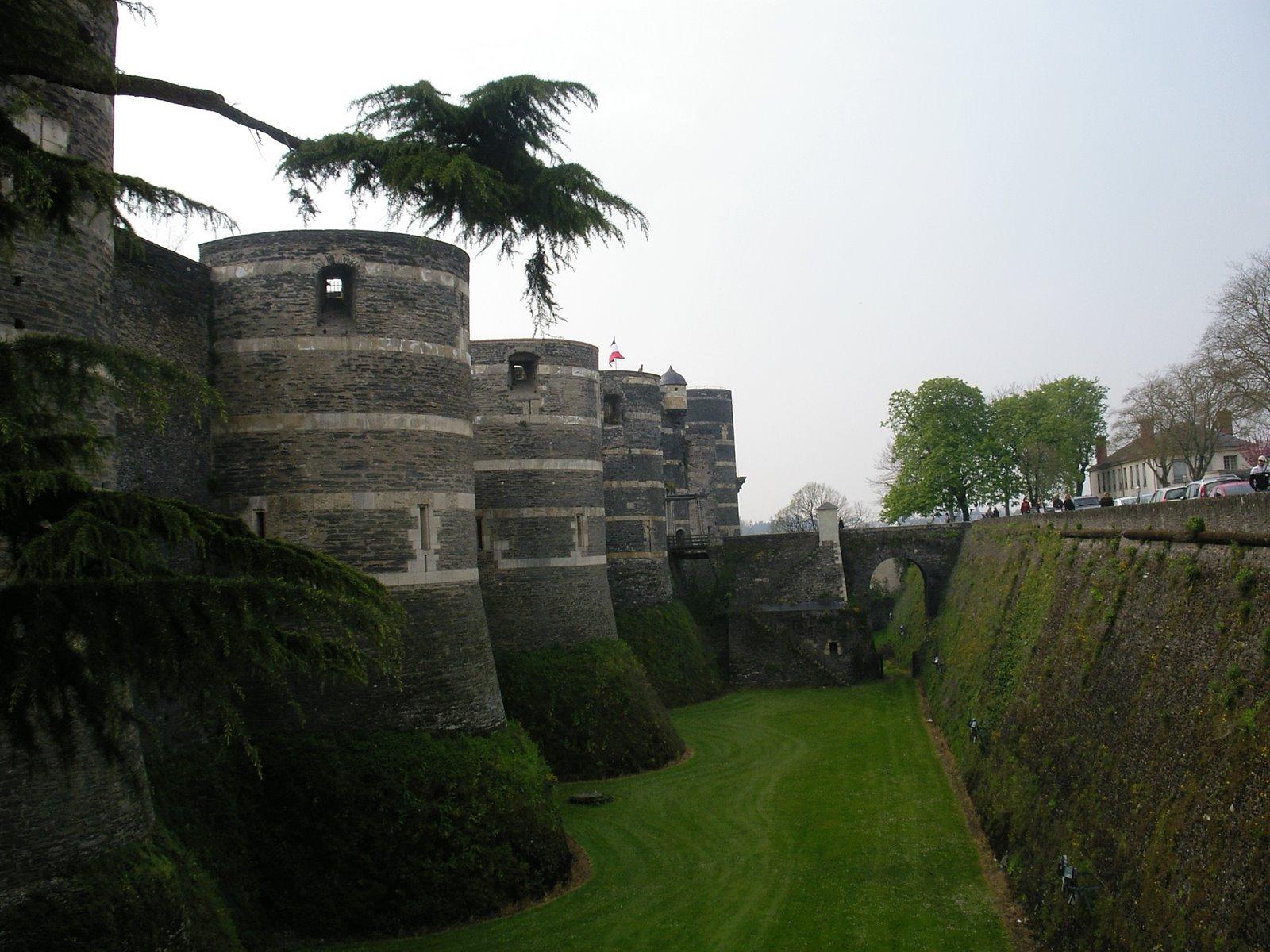 El Castillo pentagonal de Angers