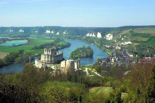 El Castillo de Gaillard, en Normandía