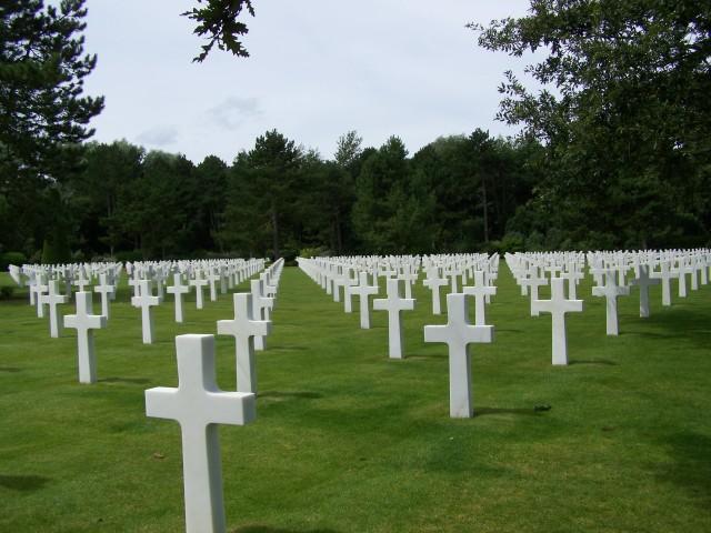 El Cementerio Americano de la playa de Omaha