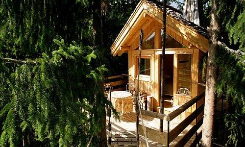 Alojarse en cabañitas en los árboles
