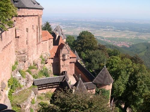 El Castillo de Haut Koenigsbourg, en Alsacia
