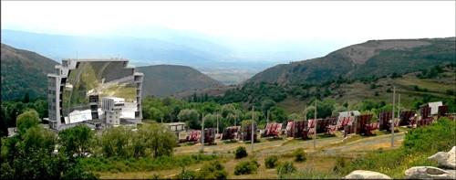 El horno solar de Odeillo, en los Pirineos Orientales
