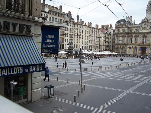 La Plaza de los Terreaux en Lyon