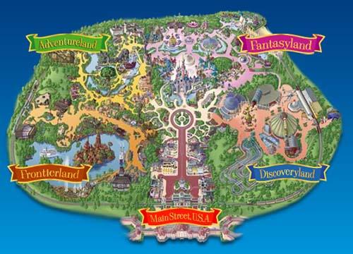 plano del Parque Disneyland