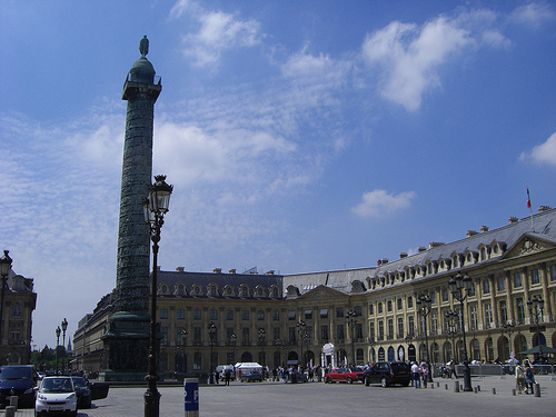 La Place Vendome, centro de las compras de París