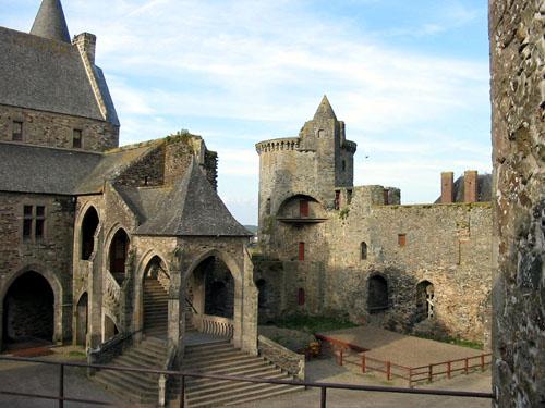 Vitre, pueblo medieval en Bretaña